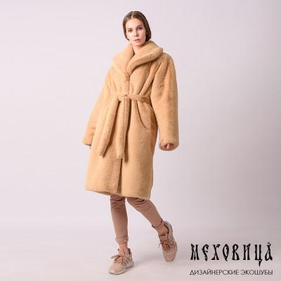 Шуба-халат из экомеха Tissa...
