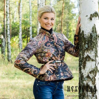 """Куртка """"Елена"""" с орнаментом в русском стиле"""