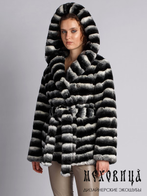 Меховая куртка из искусственного меха Tissavel под шиншиллу двубортная